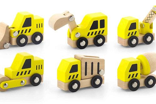 Nexus Wooden Construction Vehicle Set