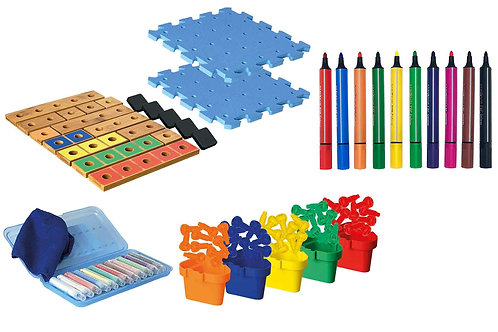 Pegs to Paper Step 1 & P2P Count Up Exploring Numbers 1-5 Combination Set