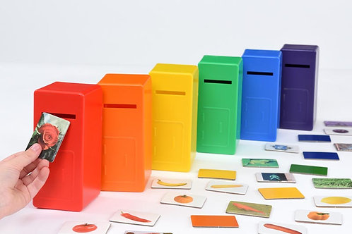 Colour Sorting Posting Games