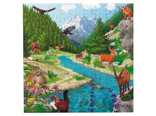 Mountain Puzzle Wooden Puzzle (36 pieces)