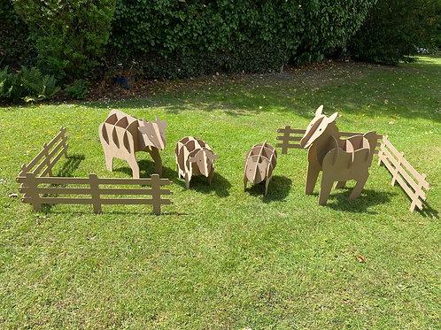 Nexus Wooden Garden Animals -