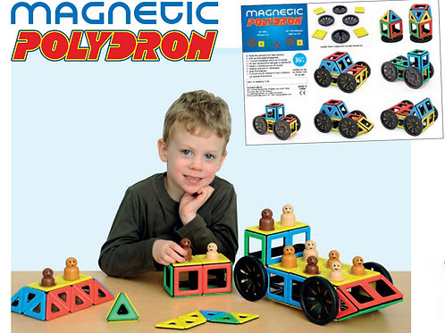 Magnetic Polydron Early Years Set (120 Pieces)
