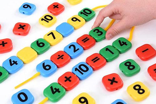 Lacing Sum Beads Maths Game