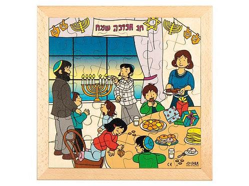 Hanukkah Puzzle Wooden Puzzle (36 pieces)