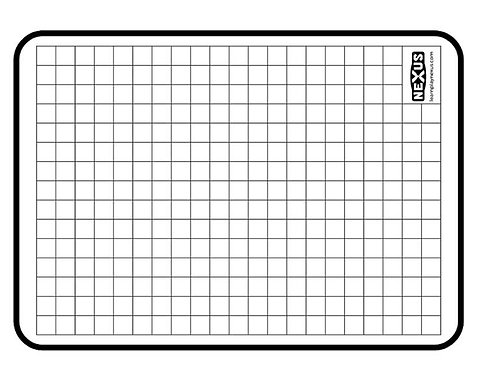 A4 Double Sided Non-Magnetic Whiteboard (Plain/Grid) - 10 Packs