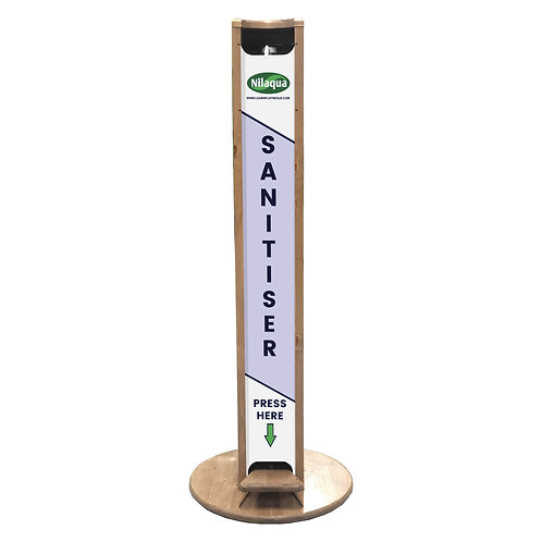 Nilaqua Pine Hands Free Hand Sanitiser Dispenser Stand