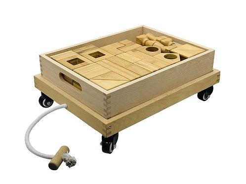 Block Play Set 1 & Wooden Cart