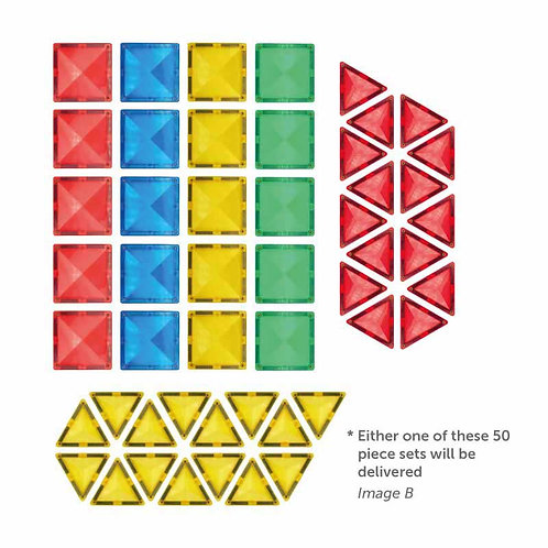 Nexus MagneTiles Home Learning Set (50 Pieces)