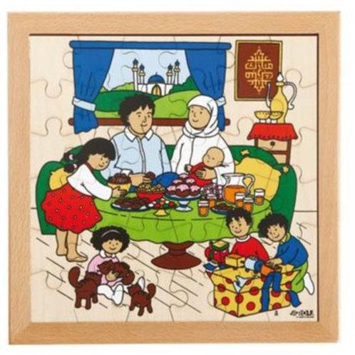 Sugar Festival Puzzle Wooden Puzzle (36 pieces)