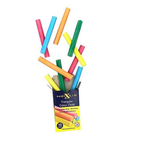Triangular Chalk Coloured 2 x 5 pcs x 1 packet
