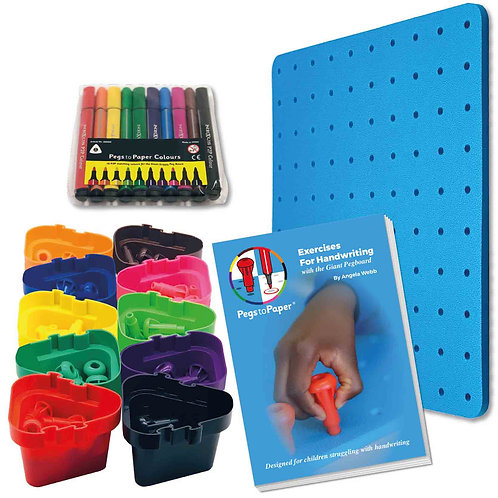 Pegs to Paper Exercises for Handwriting (Ages 5+)