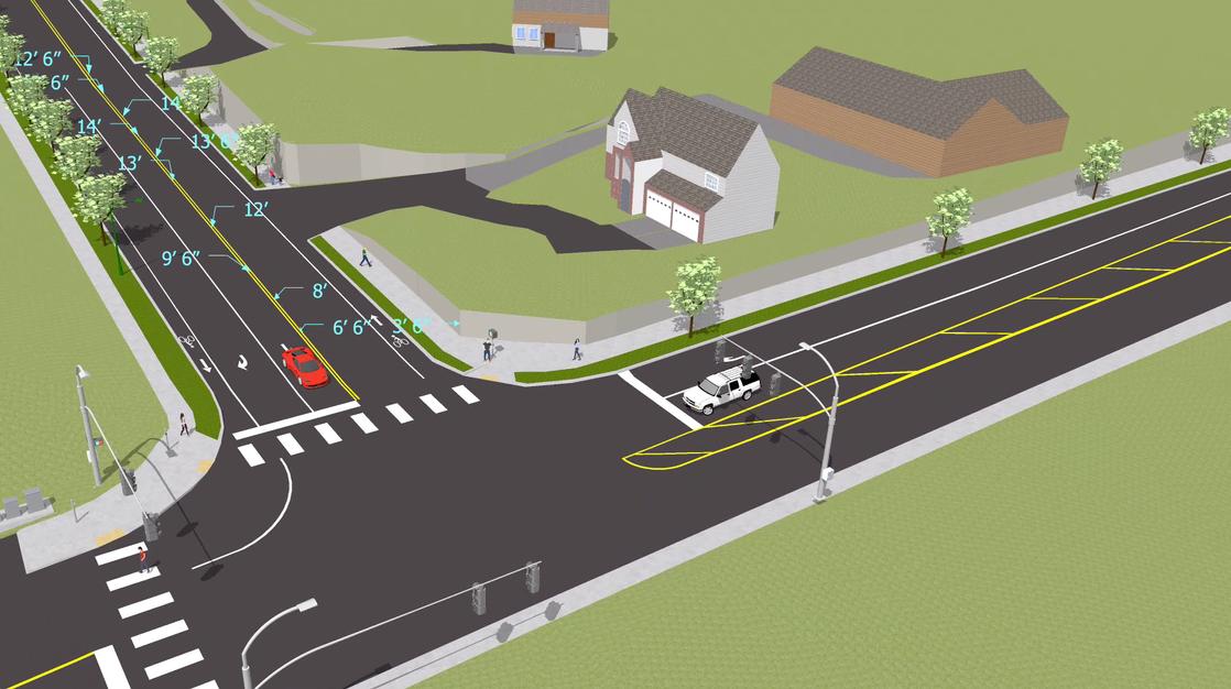 Covington Roadway Access Improvement (video animation)