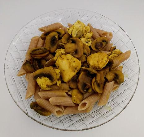 penne-poulet-champignons_dietetiqueaudrey