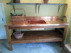 Copper Garden Sink