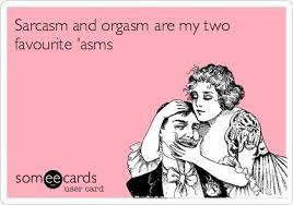 Sarcasm and Orgasm - Postcard