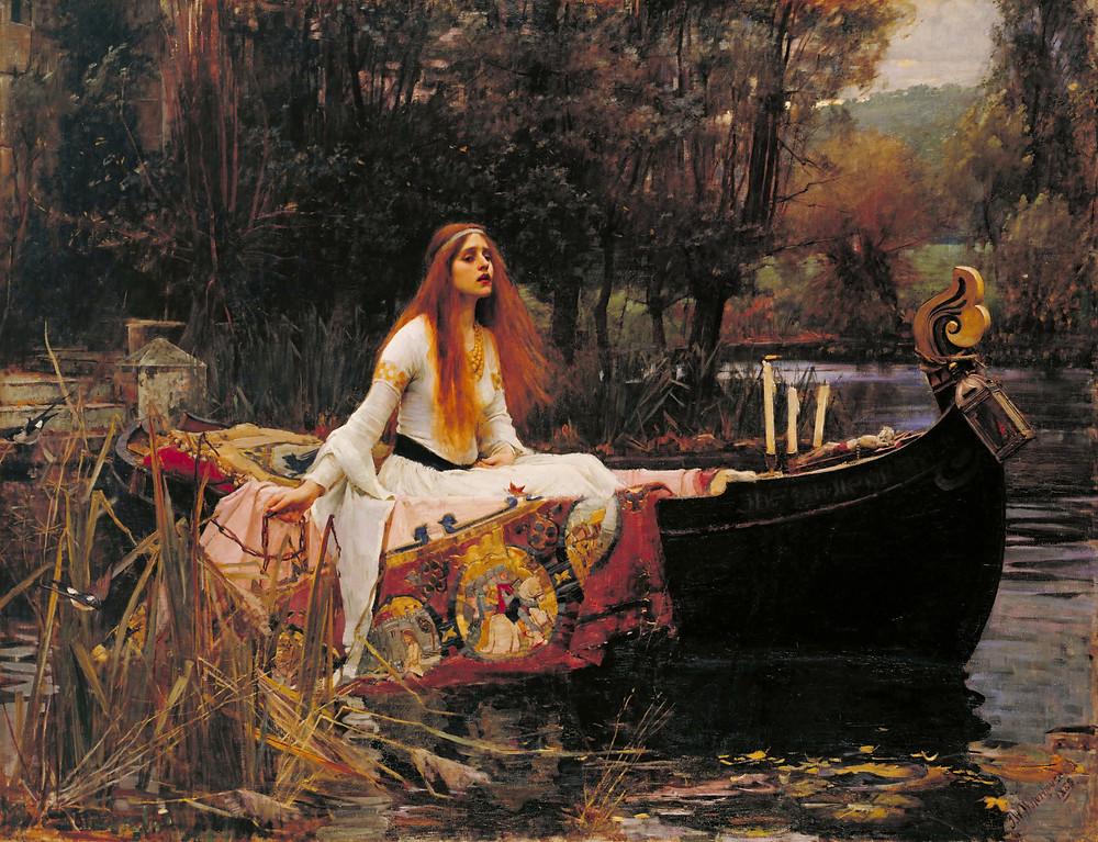 """The Lady of Shallots, John William Waterhouse, 1888"