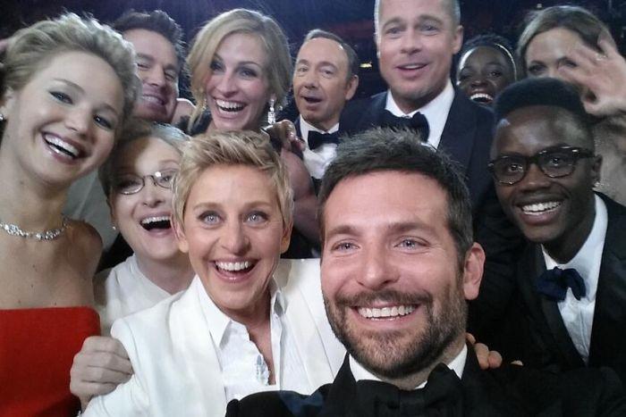 Ellen DeGeneres selfie at the Oscars