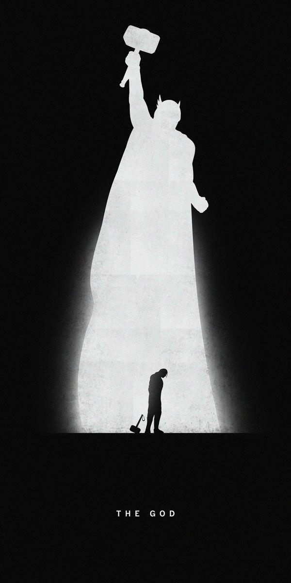 Thor Superhero Noir Posters by Marko Manev