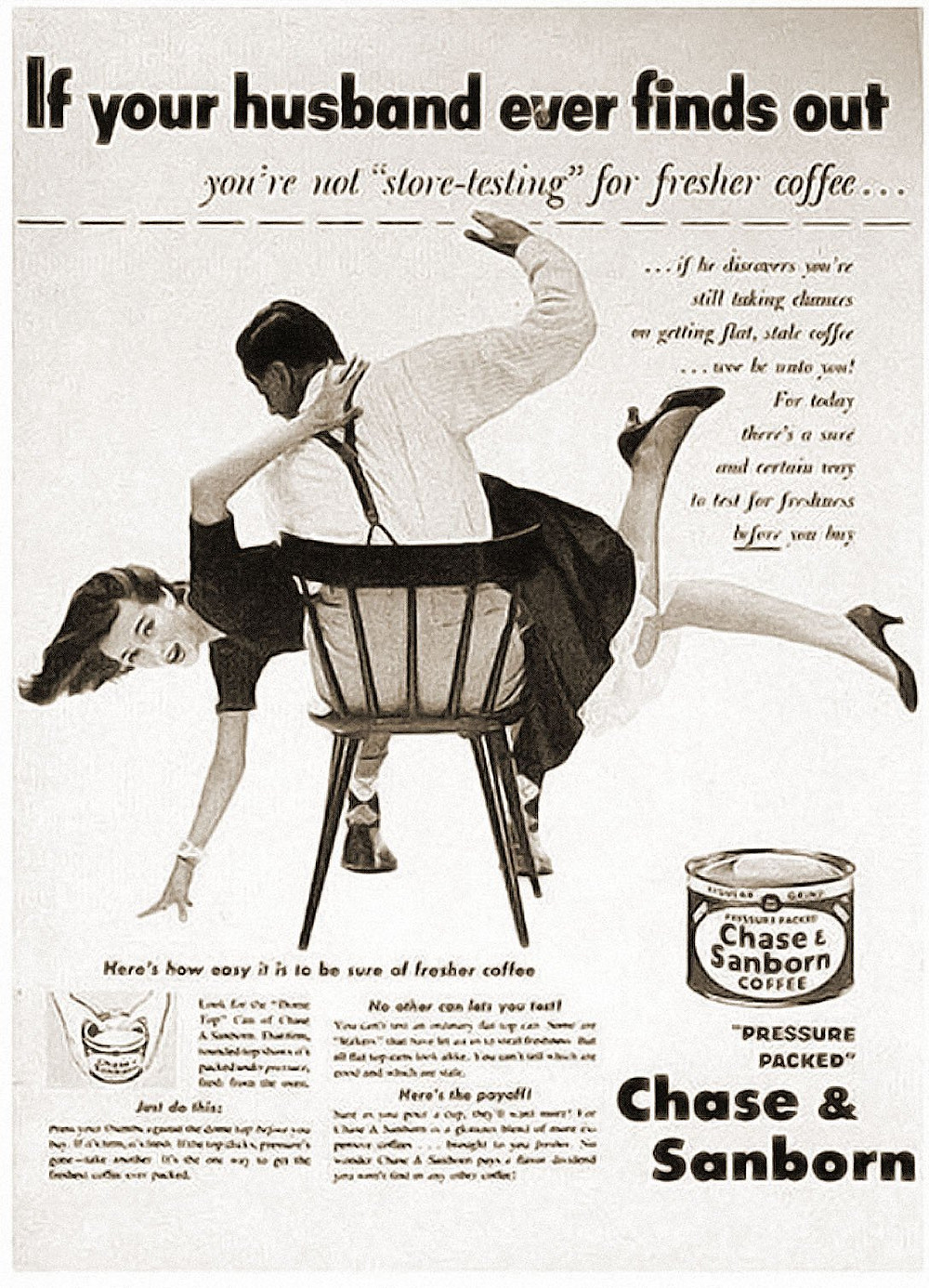 "50's advertise ""If your husband ever finds out"""
