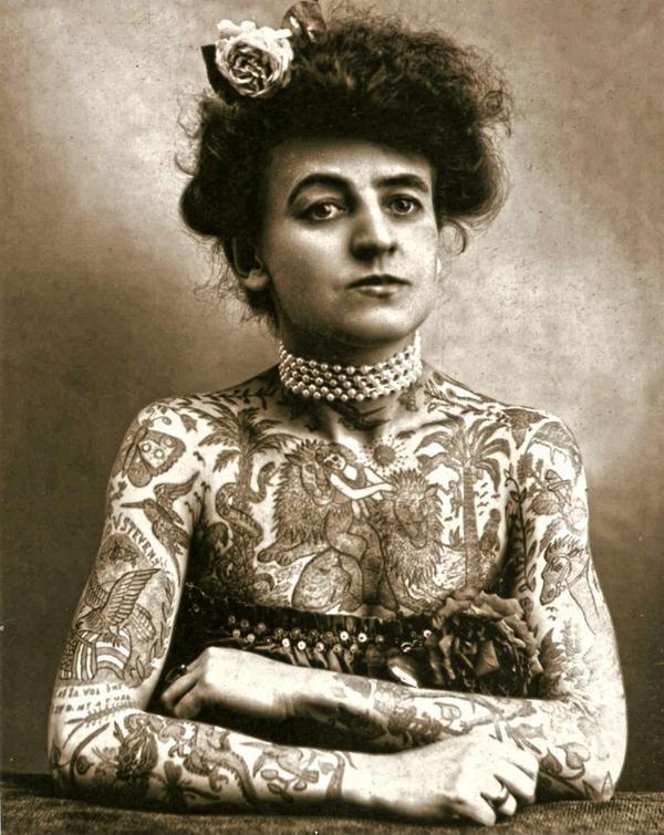 Maud Wagner - La prima donna artista tatuata. New York, 1911