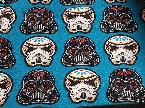 Turquoise Star Wars Sugar Skulls