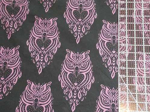 Black with Purple Owls