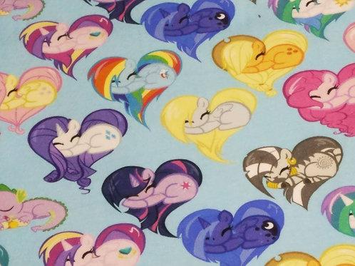 Heart Ponies Blue