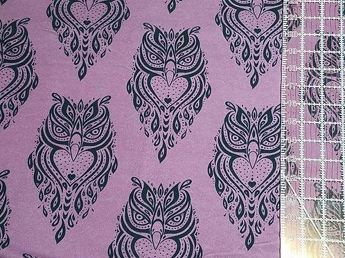 Purple with Black Owls