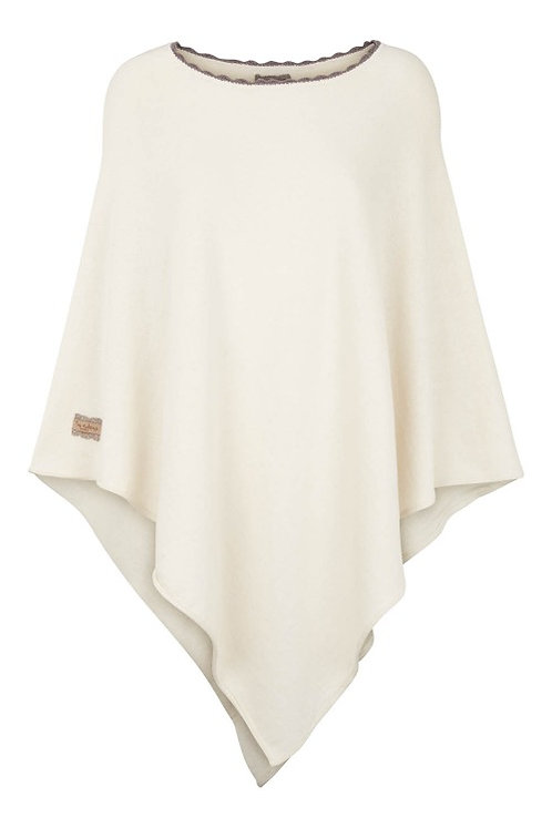 3289B1 - Poncho w.crochet – Off.White Cotton