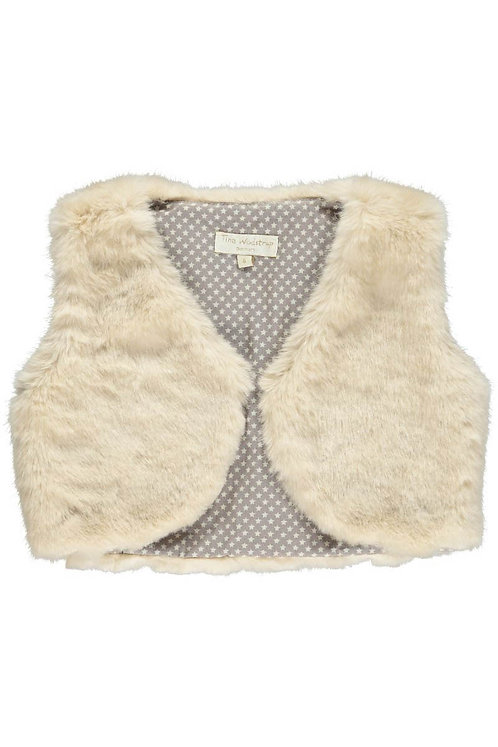 "2488A - Waist coat - Beige ""fur"""