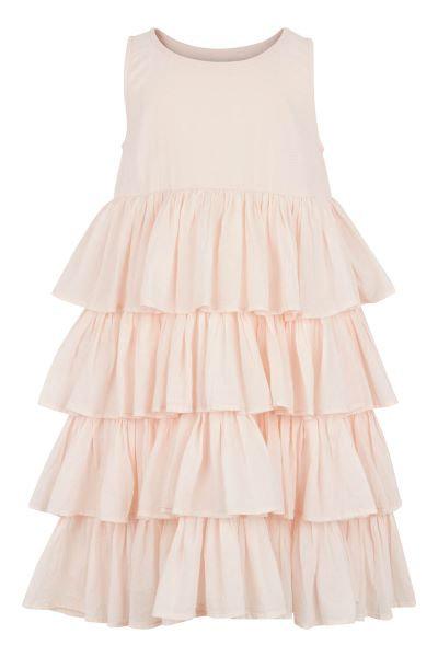 3402C - Dress w.frill - Rosa