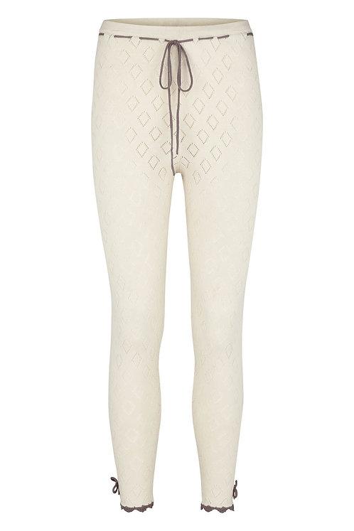 3285C - Cotton knit pants - Mauve