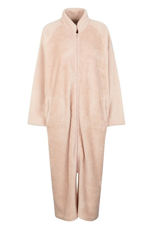 3179 - Home wear coat – Mauve teddy