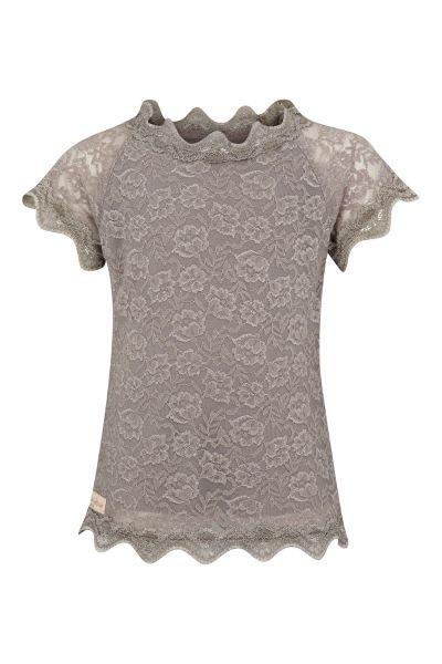 3334J - Lace t-shirt – Silk mink