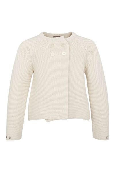 3279B - Cotten knit jacket - Pearl
