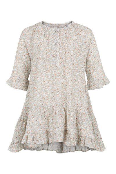 3359 - Tunica dress w.frill - Flower print