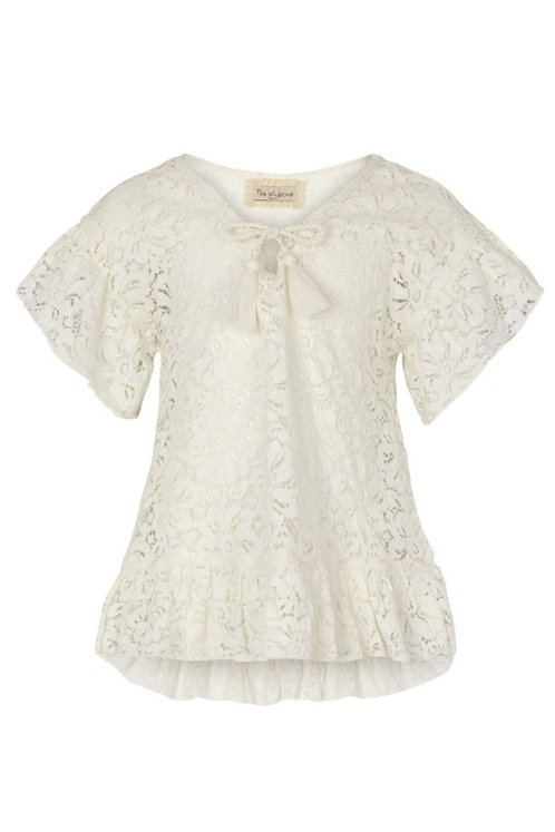3730B - Cotton Lace tunika - Off.White