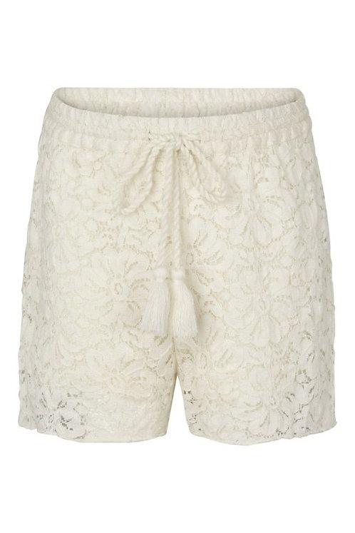 3733B - Cotton Lace Shorts - Off.White