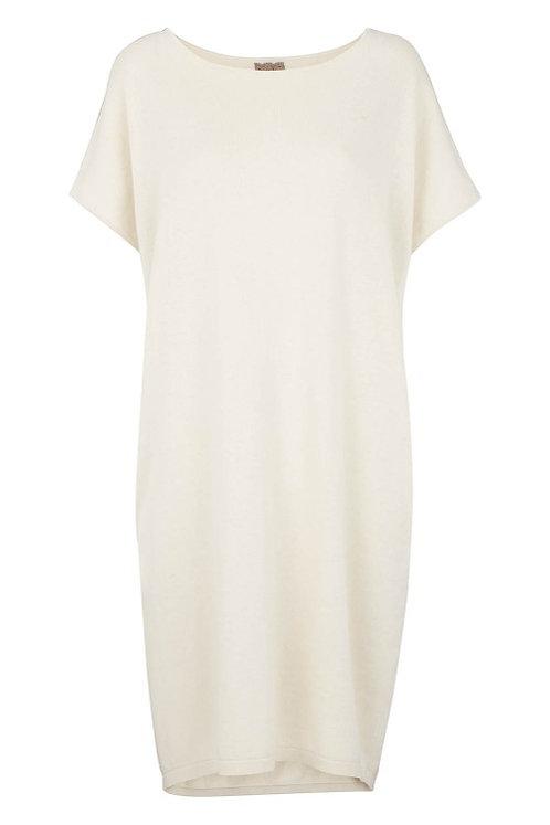 3276B - Cotton Knit Dress - Pearl