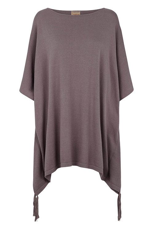 3281J - Cotton Poncho - Silk Mink