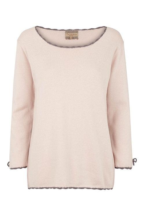 3284J - Cotton knit blouse - Silk Mink