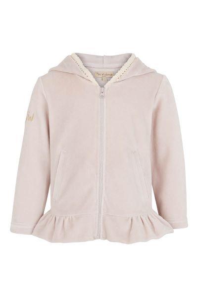 3316D - Velvet jacket w.zip – Pail purple