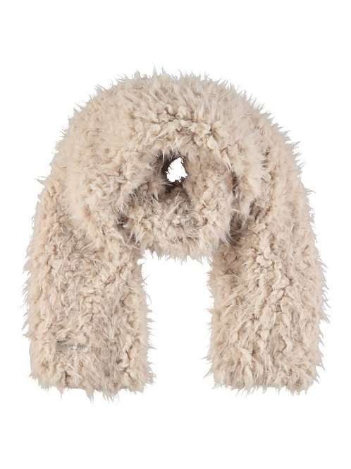 Acc21AW - Polar bear scarf - Beige / Off.White