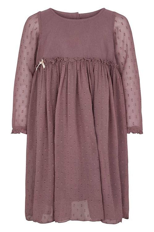 3775B - Georgette dress - Off.White