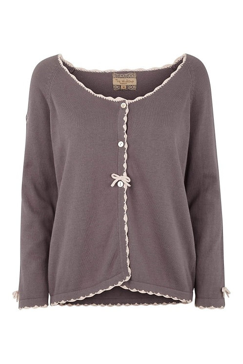 3286J - Cotton knit cardigan – Silk Mink