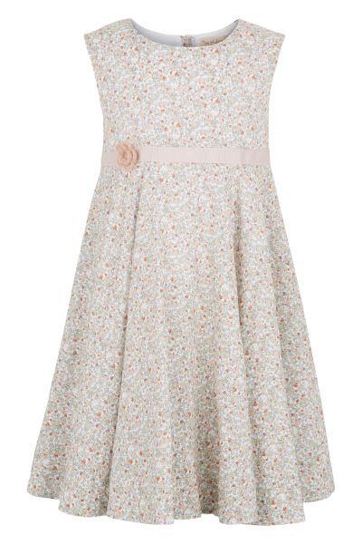 3366B - Dress w.crochet flower - Flower print