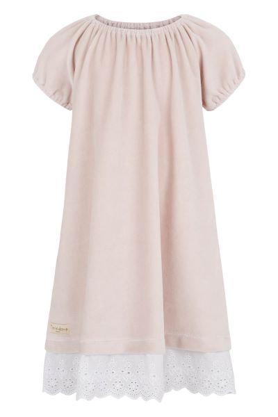 3315D - Velvet dress w.lace – Pail purple