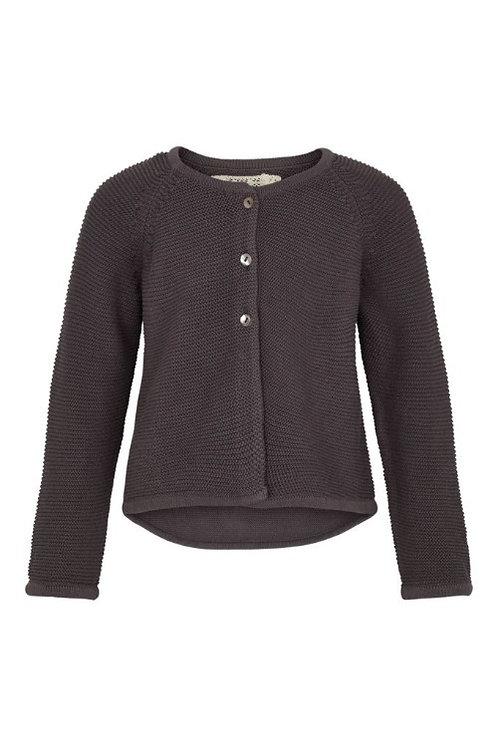 3740L - Cotton knit jacket - Plum kitten