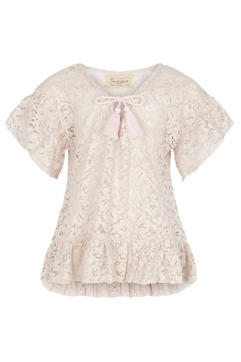 3730C - Cotton Lace tunika - Mauve