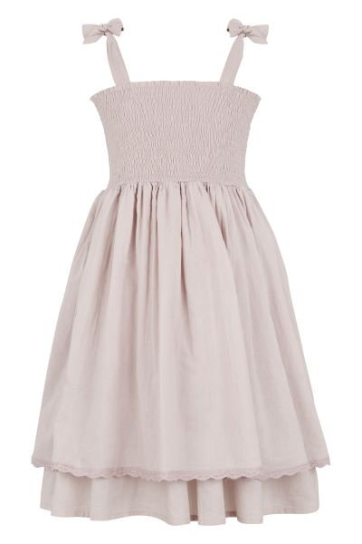 3375D - Dress w.smock - Purple